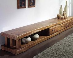 Rustic Bedroom Furniture Rustic bedroom furniture is furniture created by hand or designed to look hand crafted. Rustic Bedroom Furniture, Tv Furniture, Solid Wood Furniture, Woodworking Furniture, Handmade Furniture, Antique Furniture, Long Tv Stand, Retro Tv Stand, Living Room Tv Unit Designs