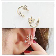 diamantes de la moda brazalete de aleación de copo de nieve oído (oro, plata) (1 pc) – MXN $ 46.57