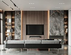 Highlights in a modern interior. The combination of materials and textures. - Highlights in a modern interior. The combination of materials and textures. Apartment Interior, Living Room Interior, Living Room Decor, Living Rooms, Luxury Interior, Home Interior Design, Contemporary Interior Design, Tv Wanddekor, Living Room Tv Unit Designs