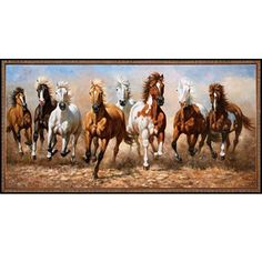 New Diy Diamond Painting Eight Horses Needlework Full Drill Mosaic Diamond Embroidery Craft Accessories Square Rhinestones Seven Horses Painting, Horse Canvas Painting, Horse Silhouette, Cross Paintings, Nature Pictures, House Painting, Stuffed Animals, Impressionist, Pet Birds