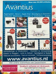 Grafische vormgeving reclame voor backcover magazine. www.avantius.nl webshop
