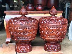 Wood Design, Cambodia, Handicraft, Jar, Home Decor, Style, Craft, Swag, Decoration Home