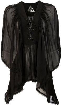 Seneca Rising Berkley Kaftan in Black #style #fashion #black