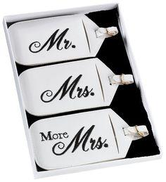 Koffer- / Taschenanhänger Set  Mr + Mrs von Braut(Zilla) auf DaWanda.com