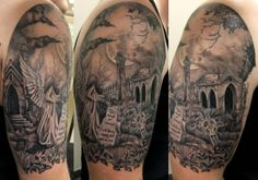 Not for me, but really good. Graveyard Scene Tattoo