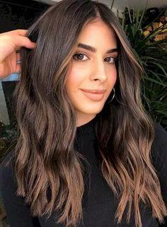 Brown Hair Balayage, Brown Blonde Hair, Balayage Hair Blonde, Light Brown Hair, Hair Highlights, Color Highlights, Dark Hair, Brown Highlights On Black Hair, Dark Brown Hair Rich