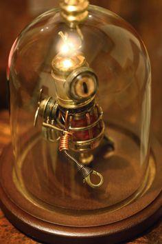 Little Steampunk Minion Robot Sculpture with von CatherinetteRings