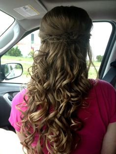 Fun and Easy idea for Emmas Prom Hair!!
