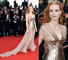Jessica Chastain, Gucci Premiere, Cannes 2012. Best she's looked on the red carpet.