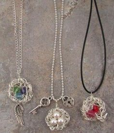 Wire Wrapped Birds Nests--I made these. they are ok. would have been better to make them smaller. picture to follow
