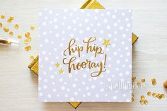 Hip Hip Hooray Pop Up Card using Waterfall Card Die from Spellbinders