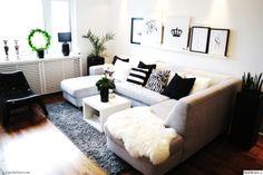 svart och vitt,randigt,kudde,soffa,lampa,stol,blomma,pläd