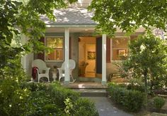 Cottage Grove Inn Calistoga (California) Nestled in an old grove of elm trees and rich foliage, these private luxury cottages are just steps from downtown Calistoga.  Free WiFi, a flat-screen TV and DVD player, as well as a CD player are featured in each room at this B&B.
