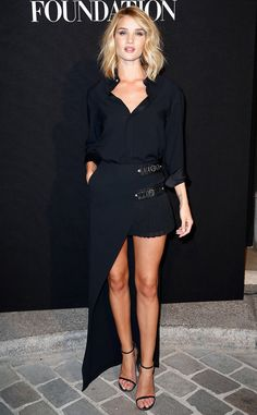 Rosie Huntington-Whiteley from The Big Picture: Today's Hot Pics  The model-actress shows off the best of high-low style at the Vogue Paris Foundation Gala at Palais Galliera.