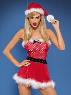 Mrs Clause Santa Dress Costume Set  #sexy #sexysanta #noel #xmas #party #whitechristmas #MrsClause #Santa #X,as #Christmas #fancydress #costume #fancydresscostume #sparklingstrawberry
