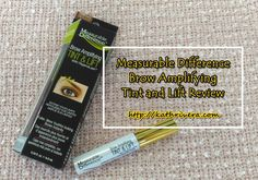 Product Review: Measurable Difference Brow Amplifying Tint & Lift | Dear Kitty Kittie Kath- Top Beauty and Lifestyle Blogger with Style and Mommy Blog on the side