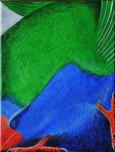 """Takahe 9""""x12""""Acrylic on canvas"""