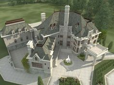 Chateau House Plan Chateau Novella Luxury House Plan Small Castle Plan Throughout Luxury French Chateau House Plans French Chateau House Plans Photos European House Plans, Luxury House Plans, Dream House Plans, Small House Plans, House Floor Plans, The Plan, How To Plan, Placard Design, Castle House Plans