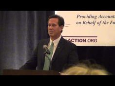 "Wonder how much Rick Santorum was paid to deliver ""truth"" about ""gay marriage?"" 10/9/12 Rick Santorum @ FPIW Reject R-74 Fundraiser (Spokane, WA)"