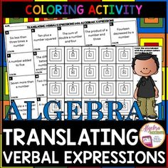 """FREE! Students will translate 20 common verbal expressions such as: less than, more than, sum, difference, product, quotient, twice, half...and more in this fun coloring activity. This resource works well as independent practice, homework, extra credit or even as an assignment to leave for the substitute (includes answer key!)Now, you may be asking yourself, """"What on Earth are Granny Squares???""""...Traditional granny squares are pieces of handmade crocheted squares made of yard and often used…"""