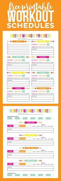 Workout Schedule Template | Schedule Templates, Workout Schedule