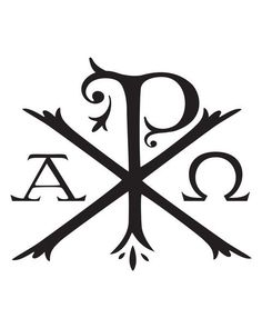 the Chi-Rho~ if I was to ever get a tatoo this would be it Alpha Omega Tattoo, Chi Rho Tattoo, Christus Tattoo, Catholic Tattoos, Filipino Tattoos, Christian Tattoos, Geniale Tattoos, Cross Art, Custom Rubber Stamps