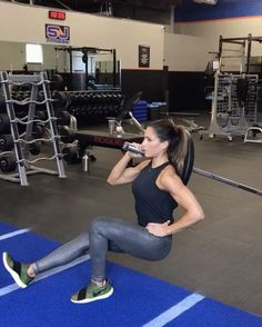 "15k Likes, 500 Comments - Alexia Clark (@alexia_clark) on Instagram: ""Landmine Leg Day 1. 10 reps each side 2. 30seconds each side 3. 15 reps each side 4. 15 reps…"""
