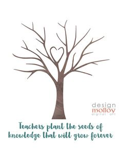 A student fingerprint tree is a fun way to personalize an appreciation gift for that special teacher. This printable makes it easy to create this DIY art gift. ★ KEEP SHOPPING ★ We have this tree available: - with an alternative saying on the bottom - https://www.etsy.com/ca/listing/520385251 CUSTOMIZATION - if you wish to change the saying on the tree, add in the teacher or school name, dates, etc... please add this listing to your shopping cart as well. https:&#x2...