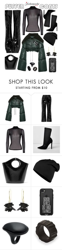 """Puffer Coats"" by fashionpsychic ❤ liked on Polyvore featuring Puma, Off-White, River Island, Elizabeth and James, Marni, Casetify and Uma 