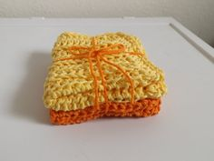 Cotton Dishcloths by BizzyBeeGifts on Etsy, $8.00