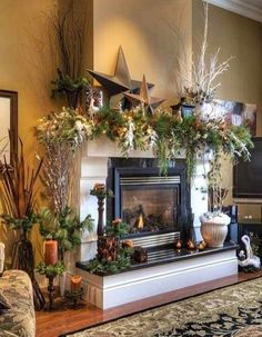 Traditional Christmas Fireplace...