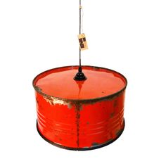 Industriële olievat hanglamp van Indusigns.