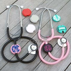Monogrammed Stethoscope ID tags. by DesignsByJessicaK on Etsy