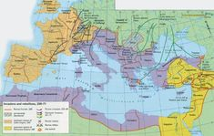 Third Century Crisis of the Roman Empir Ancient Rome, Ancient History, European History, Roman Empire Map, Bible Mapping, Roman History, Old Maps, Historical Maps, Military History