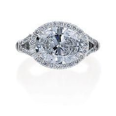 Shetler Wade Jewelers :: Oval diamond 2.07cts. D-VS2, fc's .58cts tw.
