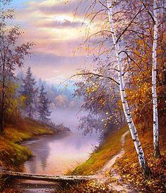 """""""Misty Autumn Morning"""" ~ Slobodan Trpevski ~ www.picture-russia.ru"""