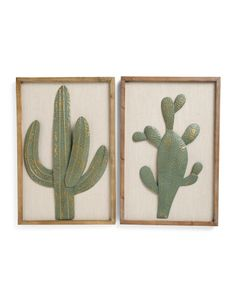 Tj Maxx Wall Art watercolor cactus framed shadowbox wall art | boulder units