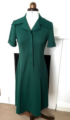 Vintage dress 60 s/70 s UK 12 great condition TRUE VINTAGE Mod 1970 s 36  bust
