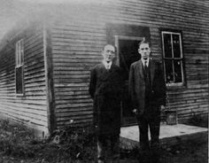 """Lovecraft (at right) with poet and farmer Arthur Goodenough the art of memory (via bigfun) """" Art Of Memory, Call Of Cthulhu Rpg, Mountains Of Madness, Eldritch Horror, Hp Lovecraft, Portraits, Sea Monsters, Spirit Animal, Creepy"""