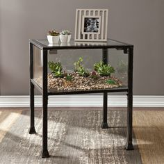 You might not want to live in a glass house, but your succulents sure do. This one-of-a-kind table will create a new world for your air plants. Don't put too much on the table, though, you'll want to s...  Find the Glass House Table, as seen in the Industrial Outdoor Living Boutique Collection at http://dotandbo.com/collections/industrial-outdoor-living-boutique?utm_source=pinterest&utm_medium=organic&db_sku=100154