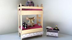 How to Make a Tiny Bunk Bed with Drawer for LPS: Littlest Pet Shop Doll ...