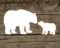Digital printable of a mama bear and her cub by ElevatedDesignShop, $5.00