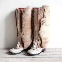 Reindeer fur & leather boots. A steal at $346 (retails at $450). Just don't tell the kids what you did to Rudolph.