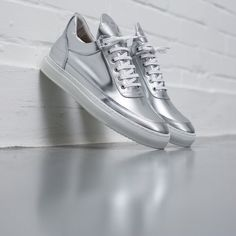 Filling Pieces Low Top Patent Silver - 5 Year Anniversary Pack