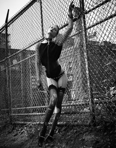 That's So Punk – The resurgence of punk style gets spotlighted in this shoot created for the online version of V Magazine. Model Martha Streck gives her best rebellious attitude in these high impact images photographed by Manolo Campion. Stylist Yana Kamps dresses the blonde in all the punk essentials including spikes, leather and fish...[Read More]