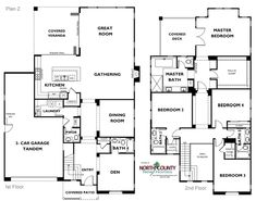 New single family homes in Carlsbad at Lanai II. One and two story homes for sale. New construction homes in San Diego North County. Family Homes, Home And Family, New Homes, Modern House Plans, House Floor Plans, Michigan, Two Story Homes, House Blueprints, Lanai