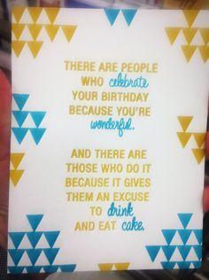 Real Friends, Eat Cake, Birthday, Home Decor, Birthdays, Decoration Home, Room Decor, True Friends, Home Interior Design