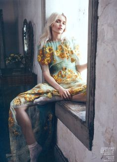 """Abbey Lee Kershaw wearing Rodarte in """"Bloom Forth"""", photographed by Lachlan Bailey for Vogue China May 2012"""