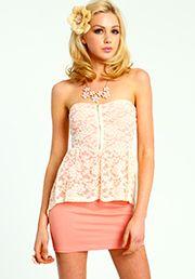 Lace Peplum Dress:$23.90