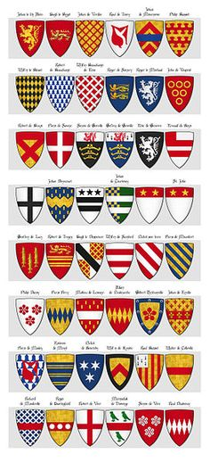 273px-GLOVER'S_ROLL_OF_ARMS,_Panel_3,_Shields_91_to_138.jpg (273×600)